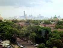 View of Chicago from venue